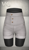 [VG] High Waist Shorts - White
