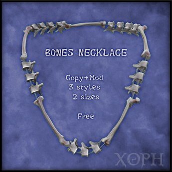 Vertebra / Bones Necklace (male and female sizes, 3 styles)