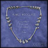 Vertebra / Bones Necklace (male and female sizes, 3 styles)