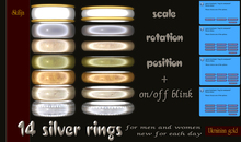 14 silver rings L&G