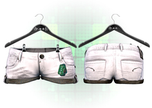-Fade Arcade- Mesh Shorts White