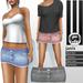 SHEY - Janis Mesh Denim Skirt