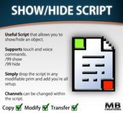 Show/Hide Script - Touch and Voice Commands!