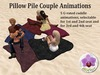 Pillow pile couple animations