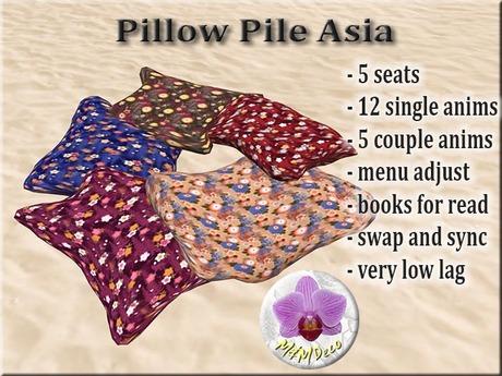Pillow Pile Asia