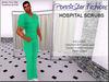 Porn*Star Fashions MENS GREEN Hospital Scrubs