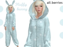 PROMO all.berries - bunny - mint furry/polka dots