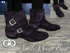 Ankle Wrap Boots For Men - Purple [Fitted Mesh]
