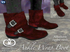 Ankle Wrap Boots For Men - Red [Fitted Mesh]