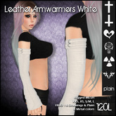 [ SAKIDE ] Leather Armwarmers White