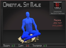 Seating *Oriental Sit Male* Transferable Poseball