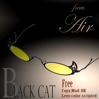 "AIR ""Black Cat"" Glasses CM slx*"