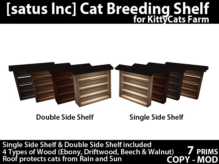 [satus Inc] Cat Breeding Shelf for KittyCats Farm