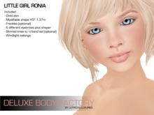 Child skin and shape - Little girl Ronia, Deluxe Body Factory's collection for kids DEMO