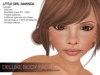 Child skin and shape - Little girl Amanda, Deluxe Body Factory's collection for kids including Super Mesh Bros HUD