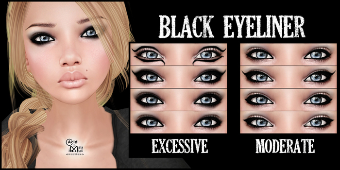 .:A&M:. Black Eyeliner - MODERATE PACK