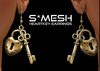 S*MESH - HeartKey Earrings