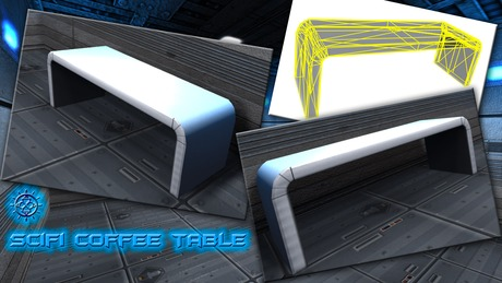 [:AT:] - One Prim Scifi Coffee Table