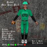 Football Male Green Black