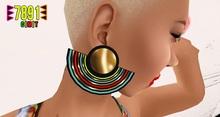 [7891.] Pride Earrings - Gold (W\Resize)