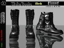 V-Twins Bootleggerz - Quantico Collection Male Version Booots Patched **MESH