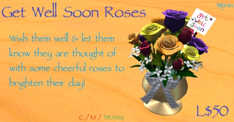 Get Well Soon Roses Gift by Sami