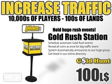 Linden Gold Hunt Rush Events Station - Start cool gold rush events - Increase your traffic