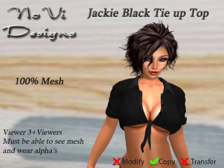 Jackie Mesh Black Tie Up