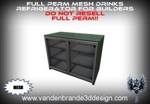 ~Full perm MESH Drinks Refrigerator for builders