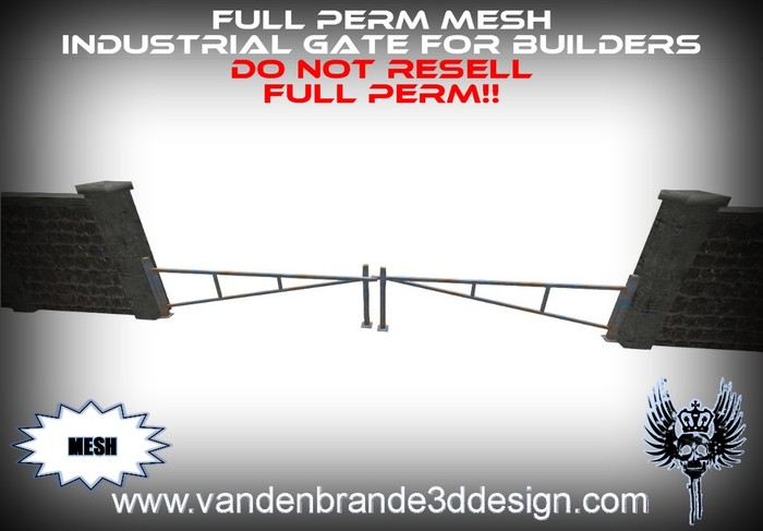 ~Full perm MESH industrial Gate for builders