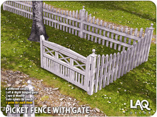 LAQ Decor ~ Picket Fence with Gate (6 Color Pack)