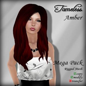 Tameless Hair Amber (MESH) - Mega Pack