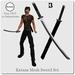 Katana mesh sword set with hud 3