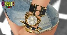 [7891.]- Aurbierre Watch Set - Gold&Black