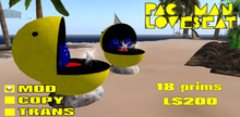 Pac-Man Loveseat Boxed (MOD Only) Boxed