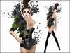Boudoir -Couture Vortex Black
