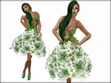 Hydrangea Dress Green