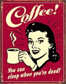 TIN SIGN COFFEE Old Tin Advertising Sign - Antique