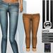 SHEY - Janna Cuffed Skinny Jeans