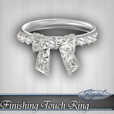 ::: Krystal ::: Finishing Touch Ring - Silver