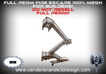~Full perm fire escape 100% mesh! multiple texture faces Only 8 land impact total!