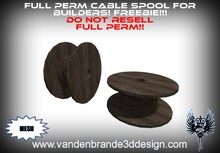 ~Full perm wooden Cable Spool 100% mesh! !!FREEBIE!!