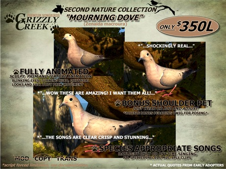 Grizzly Creek Mourning Dove (Basic) Rez- or -Wear