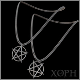 Pentacle Necklace / Pentagram Necklace (4 shapes, with color and size HUD)