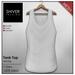 Shiver - Mesh Tank Top - White