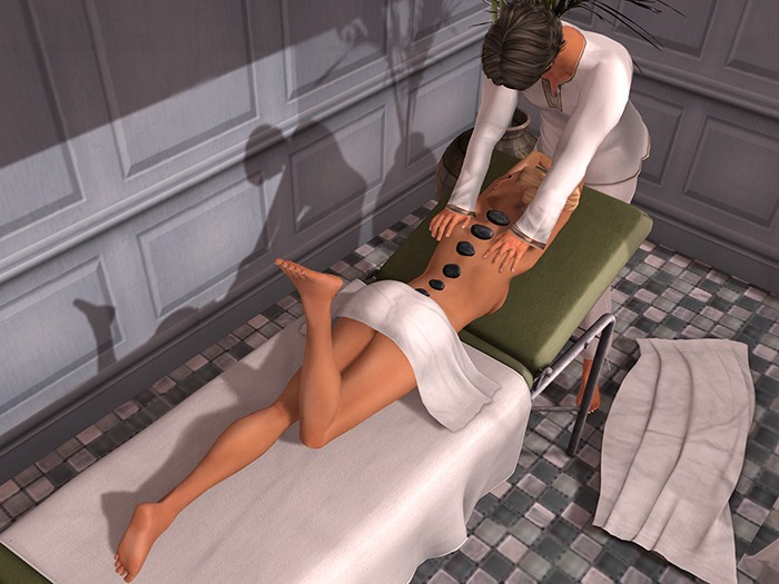 Dutchie mesh massage table: 46 massage animations, rezzing modesty towels and hot stones