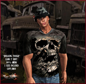 Pure Passion Mesh Male ARMY SKULL CAMO T-shirt in 5 sizes