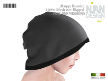 SALE ---.:NIAN DESIGN:. Baggy Beanie  Mesh Full Permissions UNISEX
