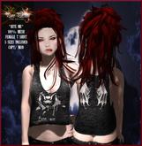 "Pure Passion Mesh Female ""VAMPIRE BITE"" T-shirt in 5 sizes"