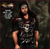 Pure Passion Mesh Male PIRATES DEAD MEN T-shirt in 5 sizes